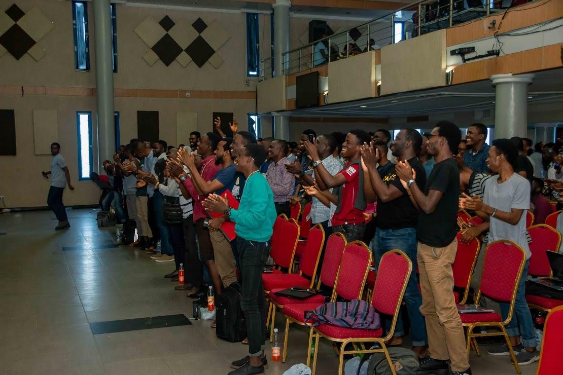 Audience cheering at React Summit 2018