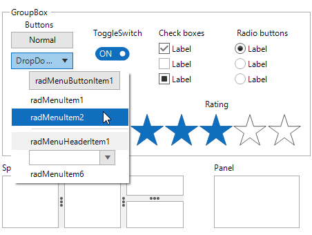 The Office 2019Light Theme in Telerik UI for WinForms