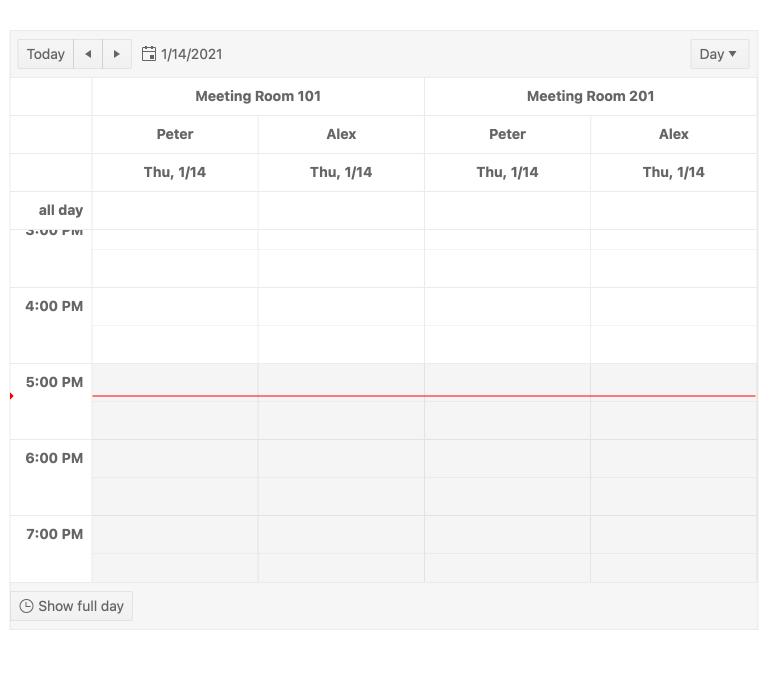 KendoReact Scheduler Component - Current Time Marker