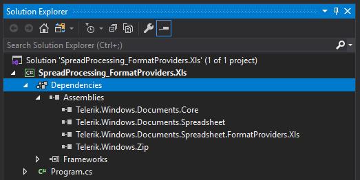 Loading RadSpreadProcessing XLS via Assembly .NET Framework