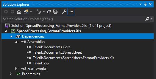 Loading RadSpreadProcessing XLS via Assembly .NET Standard