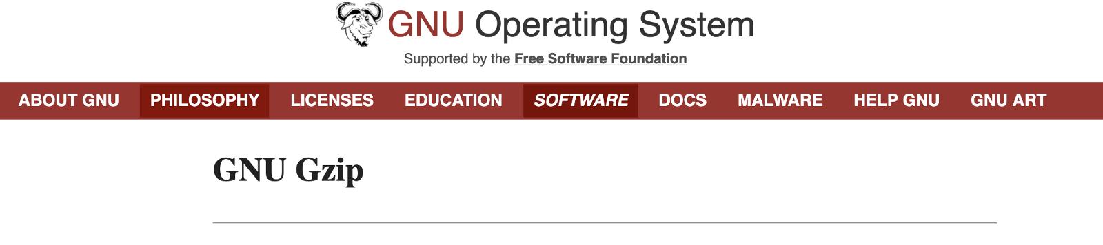 GNU Operating System - GNU Gzip page