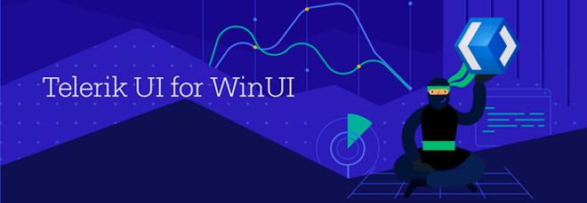 Telerik WinUI logo banner