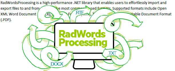 RadWords Processing image is obscuring the text.
