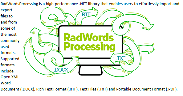 Text flows along the left side of RadWords Processing image.