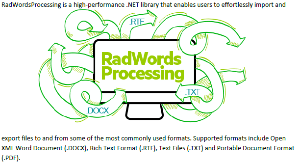 Text appears above and below the RadWords Processing image