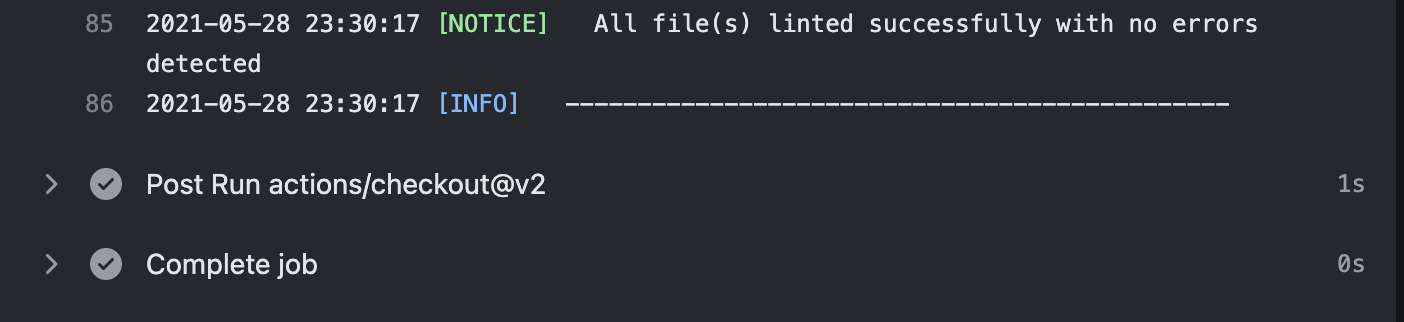 All file(s) linted successfully with no errors detected.