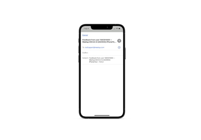 """When a Meetup mobile app user clicks """"Give us feedback"""", an email is auto-generated on their behalf. The subject line contains helpful info about their user ID, software, and device."""