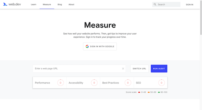 """Google's new web.dev tool will Measure """"how well your website performs"""". Users then """"get tips to improve your user experience"""". It works just like other Google tests, where you enter the web page URL and run the audit to see your results."""
