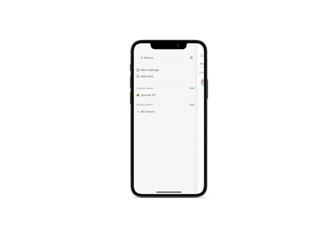 """The Remind mobile app's pullout menu enables teachers to send a New message, Add class, or view and manage their """"owned"""" classes from the dashboard."""
