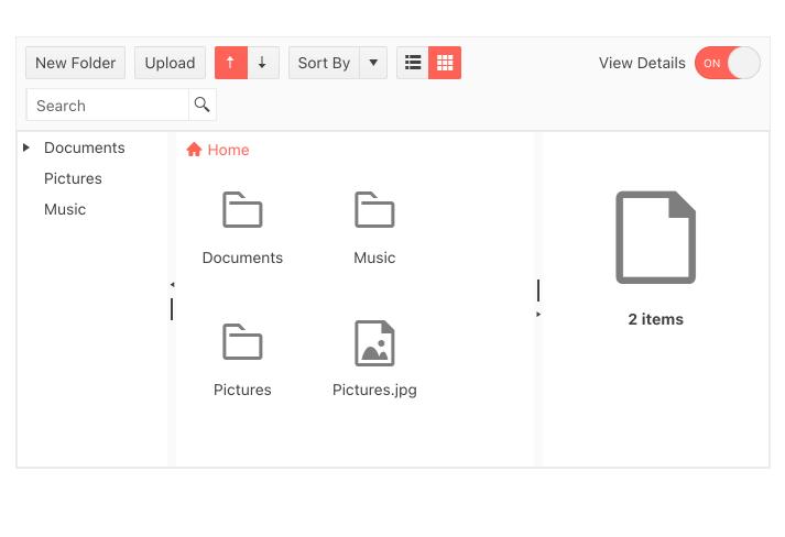 KendoReact FileManager Template