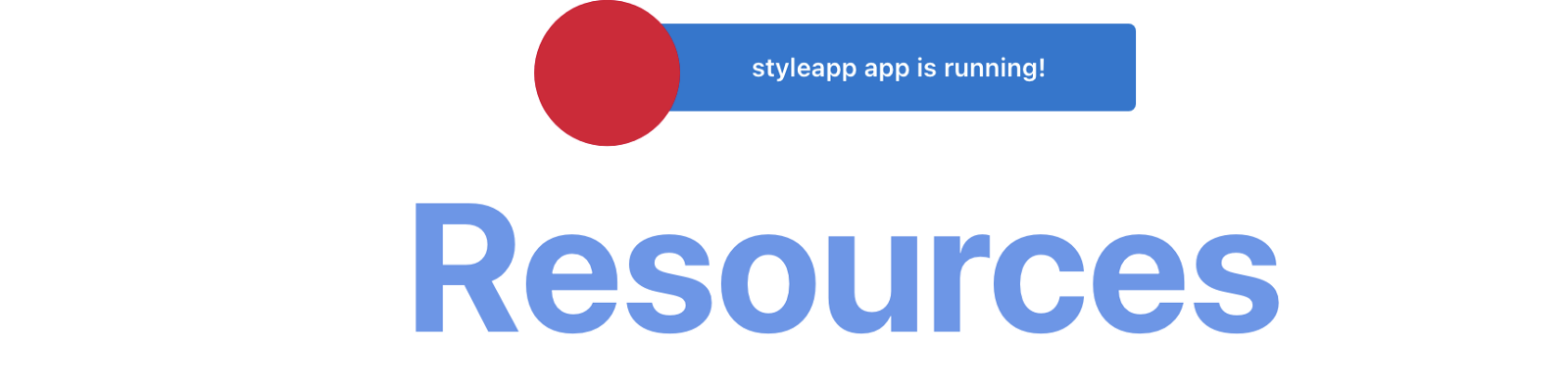 The Resources label is now much larger and in light blue instead of black.