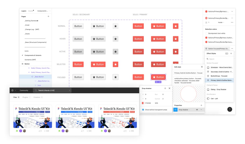 Telerik & Kendo UI Design Kits for Figma