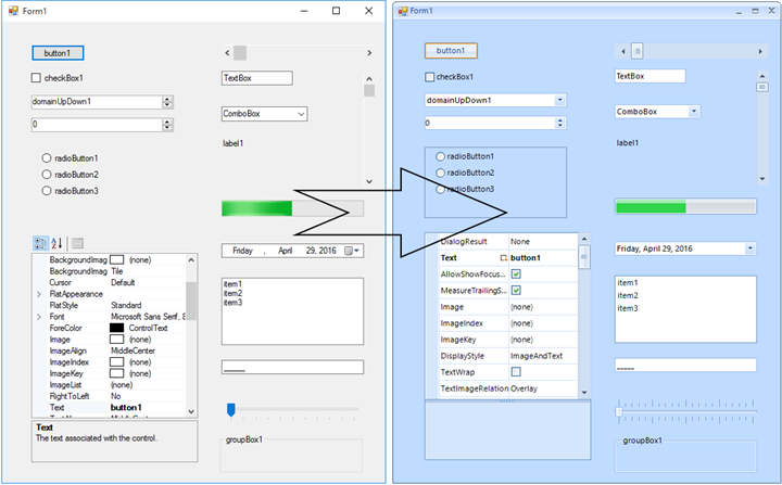 Conversion to Telerik UI for WinForms