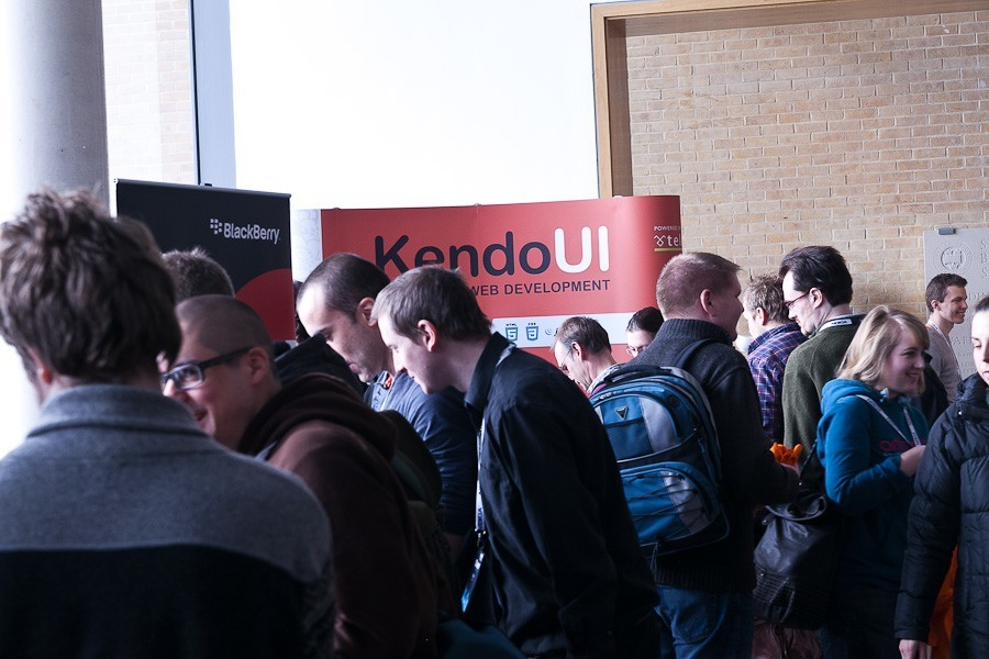Kendo UI booth at jQuery conf