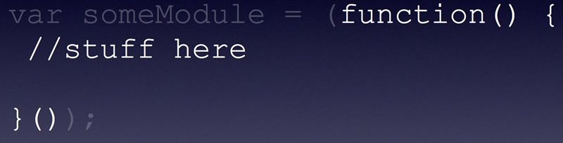 The parenthesis will automatically run the function.