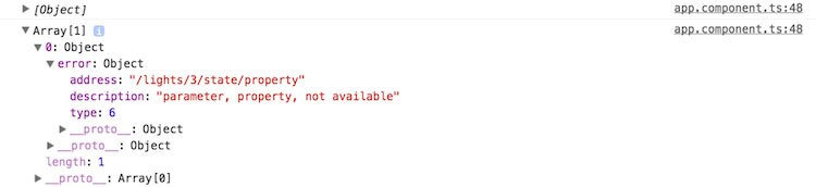 an error from the API