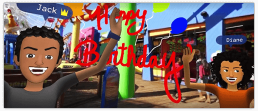facebook spaces birthday