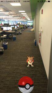 A Pokémon appears in the Telerik offices!
