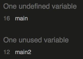 JSHint errors.