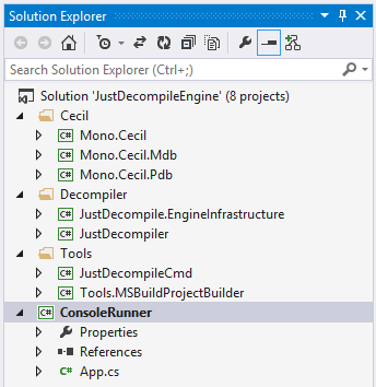 Visual Studio Solution Explorer