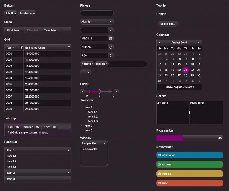 ThemeBuilder for Kendo UI