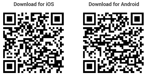 qr codes for downloading companion apps