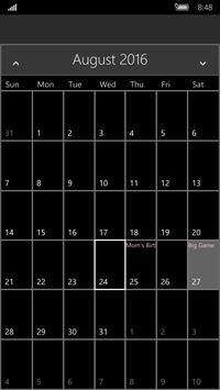 calendar-uwp