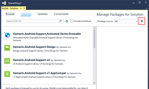 nuget-package-manager