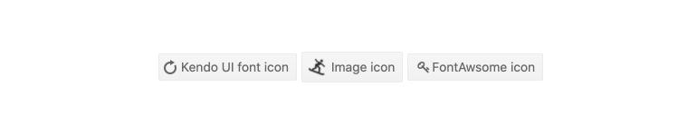 Kendo UI for Angular Button - Icon Button