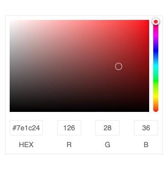 Kendo UI for Angular ColorGradient - Custom ColorGradient