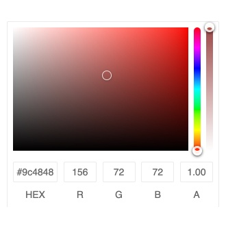 Kendo UI for Angular ColorGradient - Forms Support