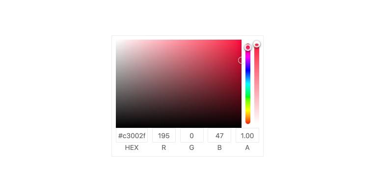 Kendo UI for Angular ColorGradient - Overview