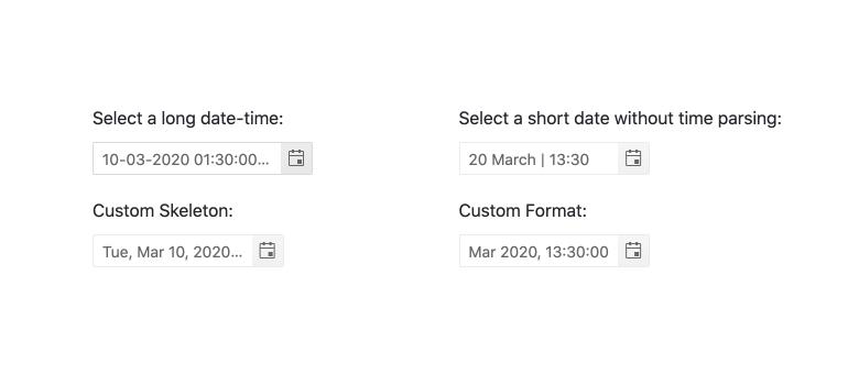 Kendo UI for Angular DateTimePicker - Formats