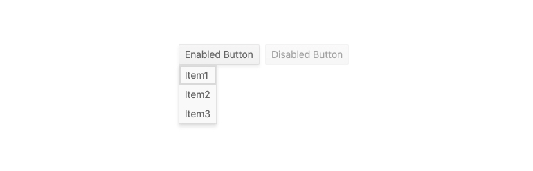 Kendo UI for Angular DropDownButton - Disabled DropDownButton