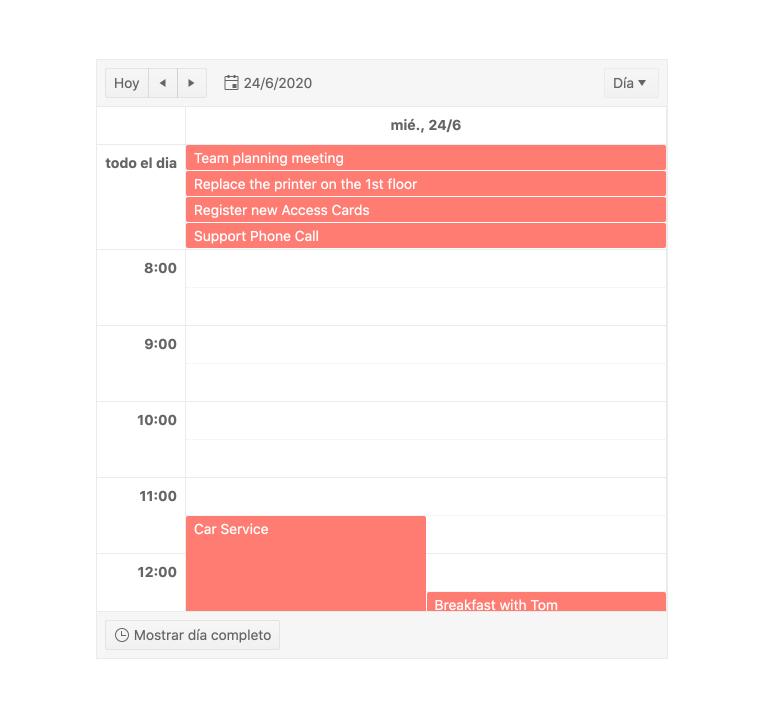 Kendo UI for Angular Scheduler - Globalization