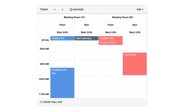 Kendo UI for Angular Scheduler - Overview