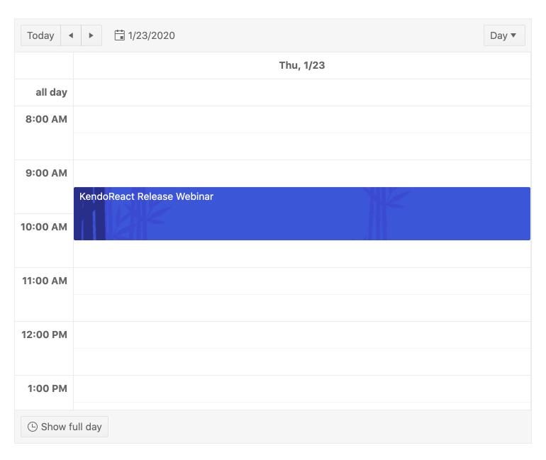 Kendo UI for Angular Scheduler - Templates