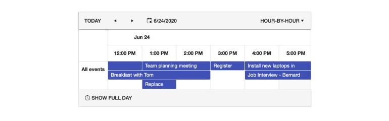 Kendo UI for Angular Scheduler - Timeline View