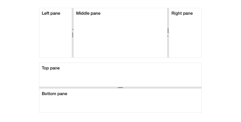Kendo UI for Angular Splitter - Orientation