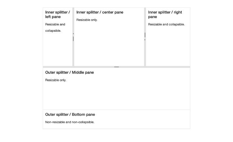 Kendo UI for Angular Splitter - Overview