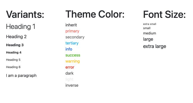 Angular Typography Overview