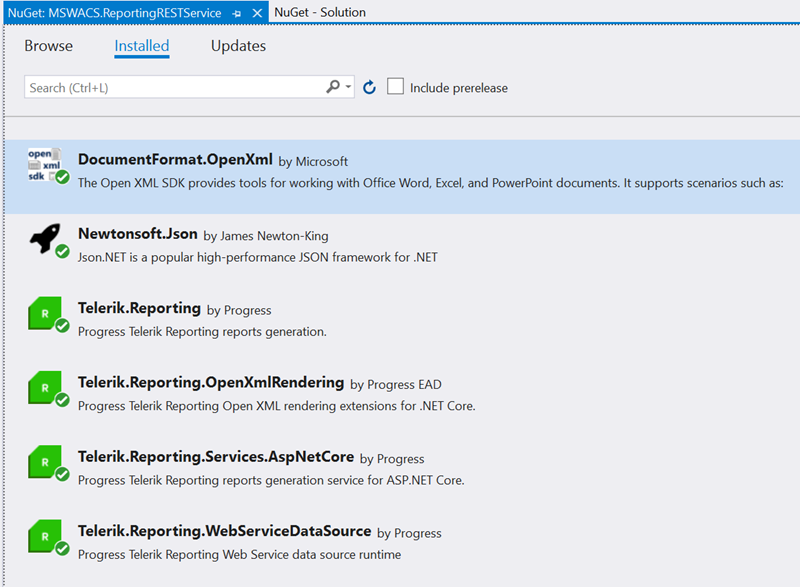 Figure 02 - Add NuGet Packages