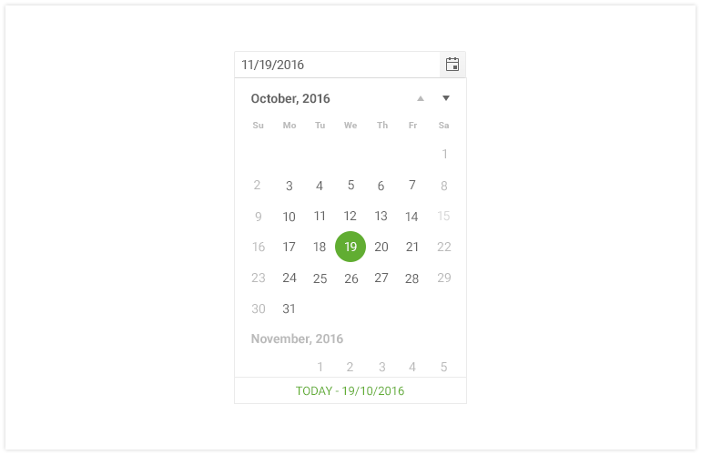 UI for PHP DateInput DatePicker-Integration image