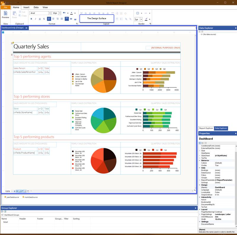 Standalone Designer Design Surface UI