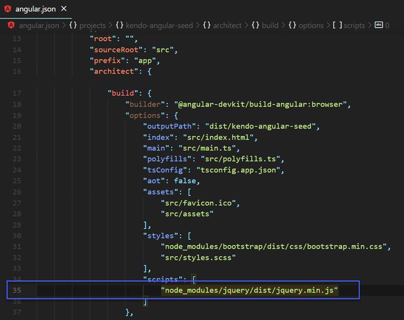 Figure 04 - Add jQuery to Angular Build