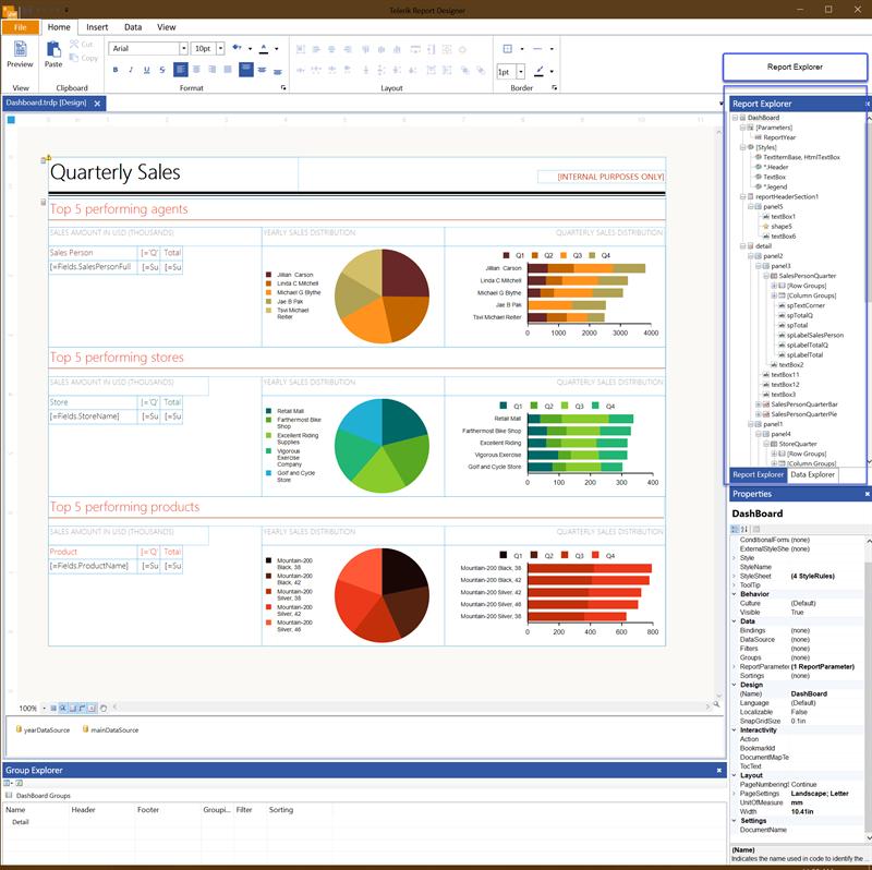 The Standalone Report Explorer UI