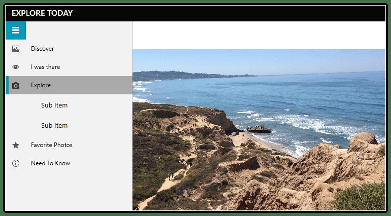 Telerik UI for WPF NavigationView - Submenu support