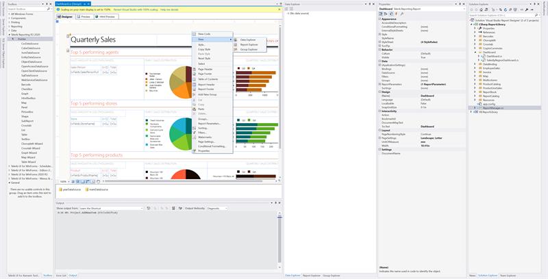 Visual Studio Designer View Editors