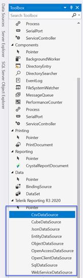 Visual Studio Designer DataSource Toolbox